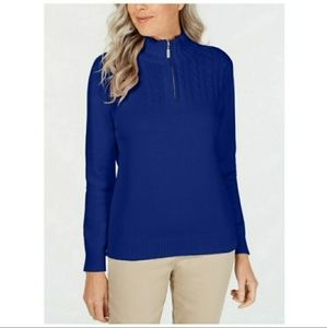 Karen Scott Blue Pullover Sweater